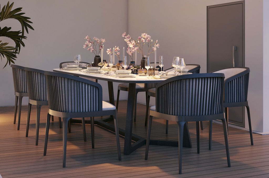 Outdoor porcelain tables - Asteri collection