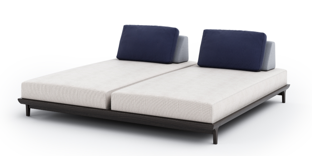 Carvalho outdoor lounger duo