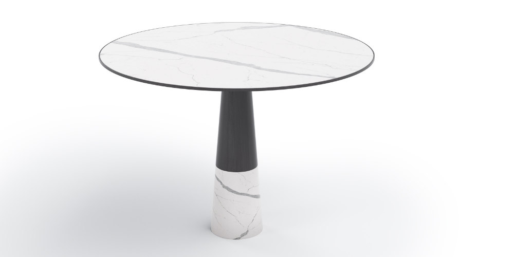 Madeira outdoor round porcelain table