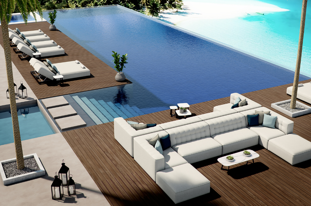 Outdoor loungers - Azur collection