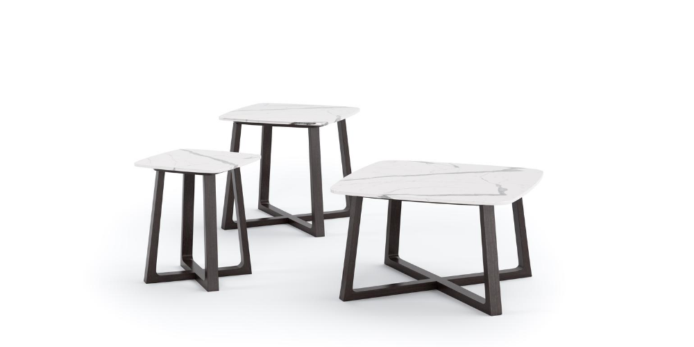 Outdoor luxury porcelain nest of tables