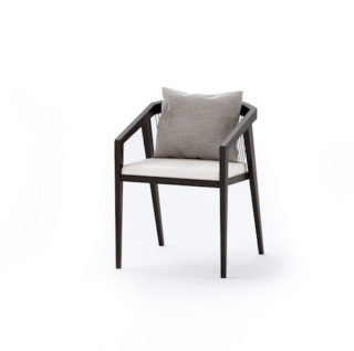 cardrona outdoor dining chair with rope