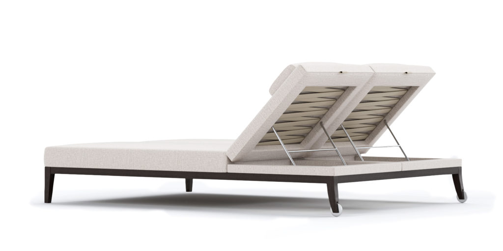 CHERKLEY OUTDOOR LOUNGER DUO BACK