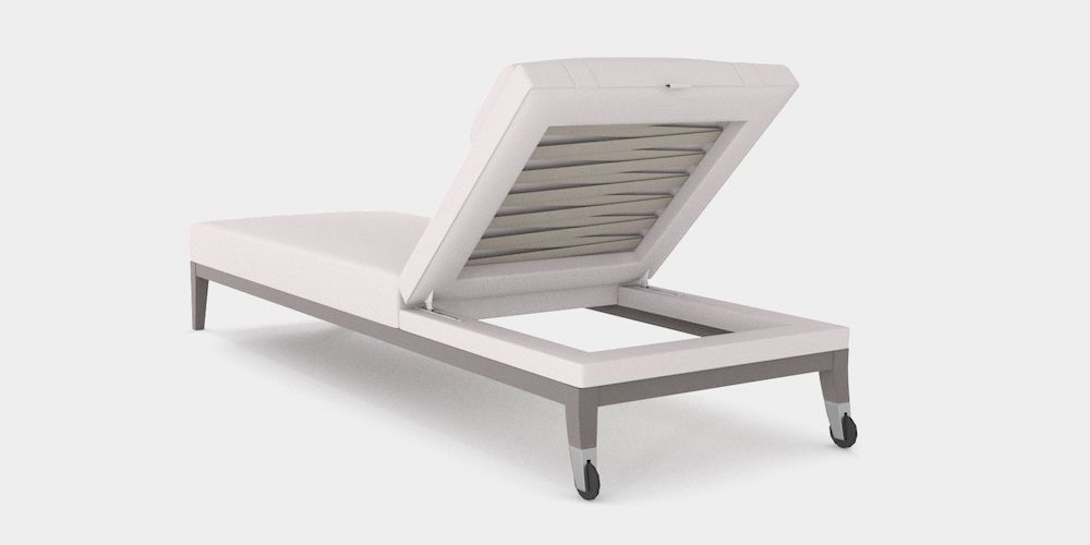 Upholstered outdoor lounger