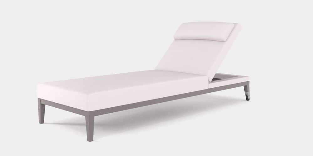 Upholstered luxury outdoor lounger