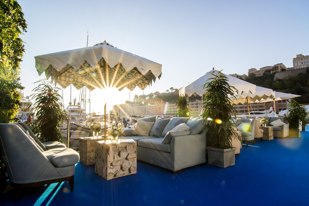 luxury outdoor furniture at monaco yacht show