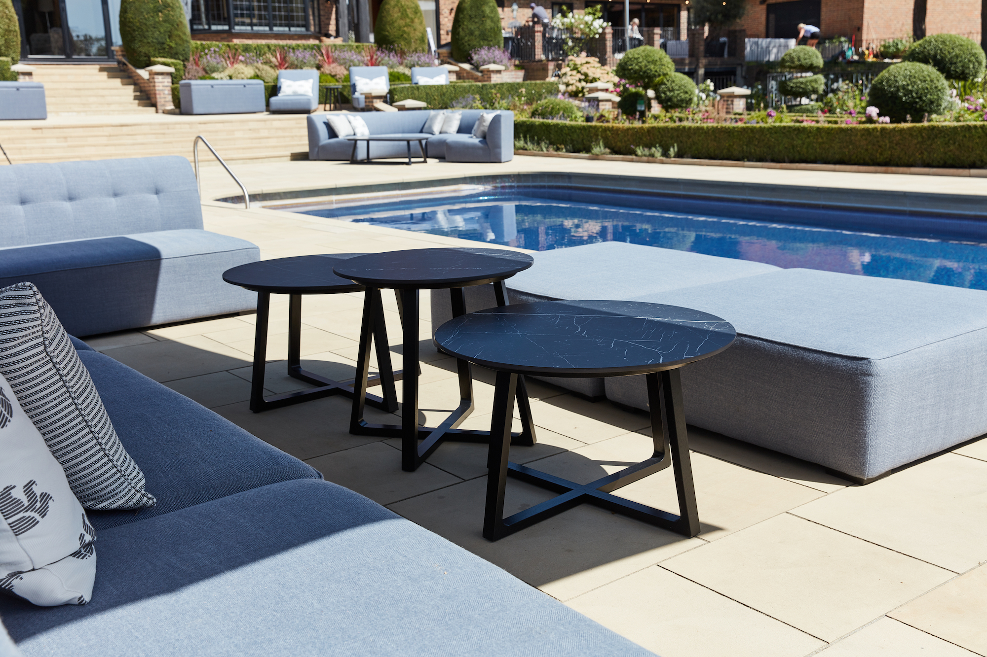 Outdoor porcelain tables