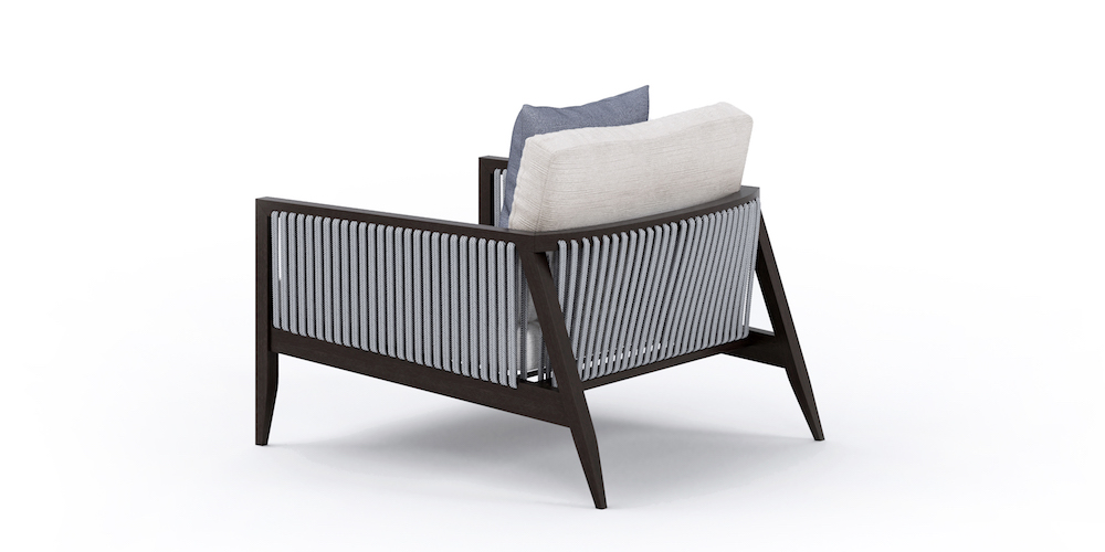 Hayes Outdoor Armchair braided back
