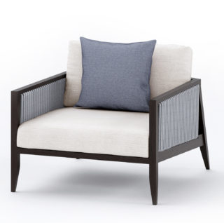 Outdoor Hayes Armchair with braided sides and back