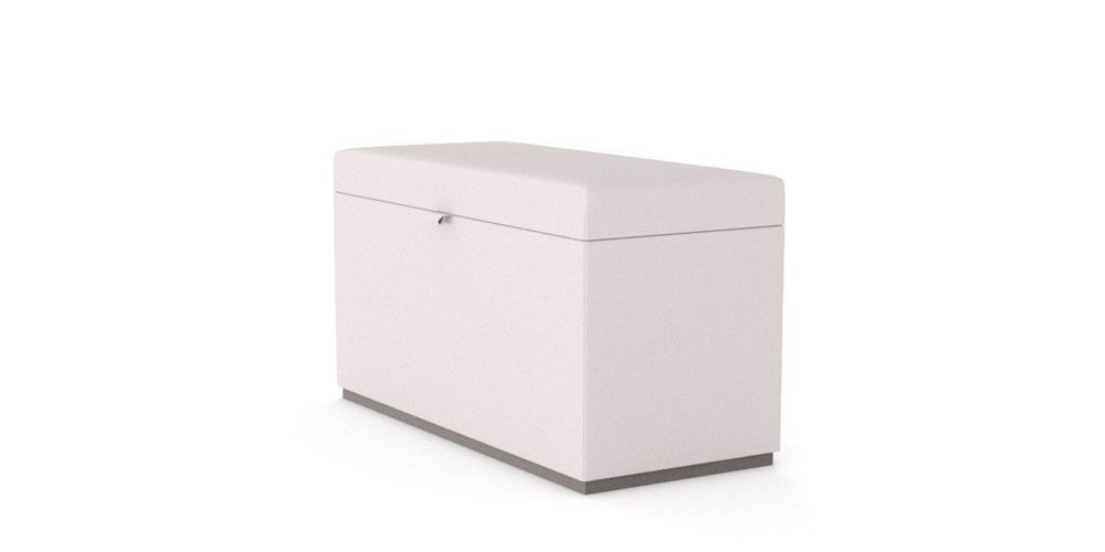 MARLON OUTDOOR OTTOMAN WITH STORAGE SIDE