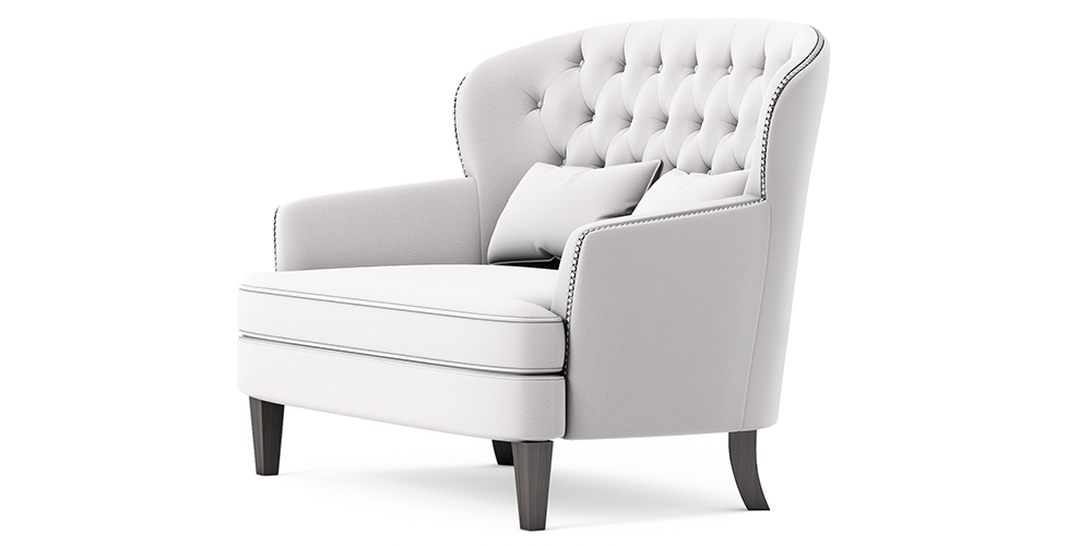 BUTTONED OUTDOOR LOVE SEAT