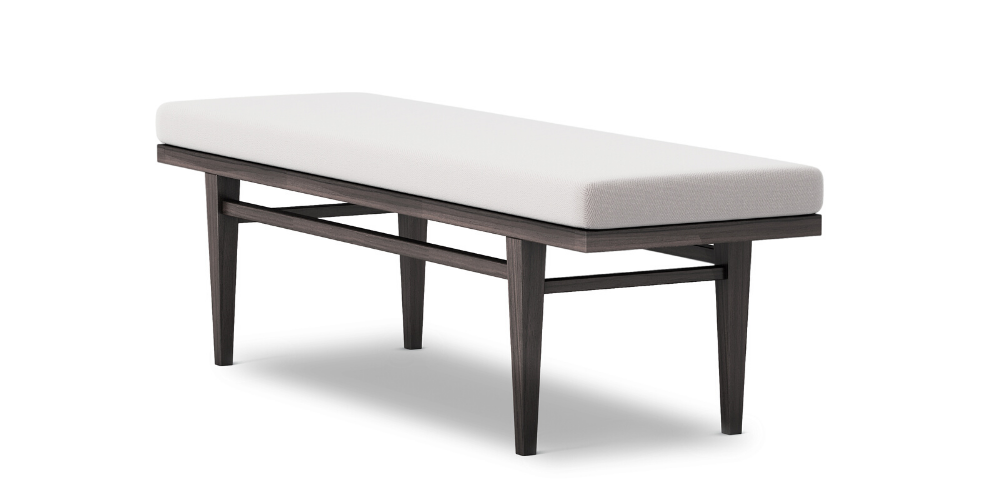 Peper outdoor upholstered bench