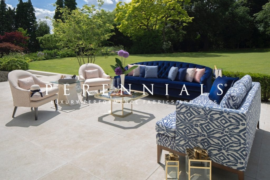 london patio garden with luury outdoor chairs and sofas