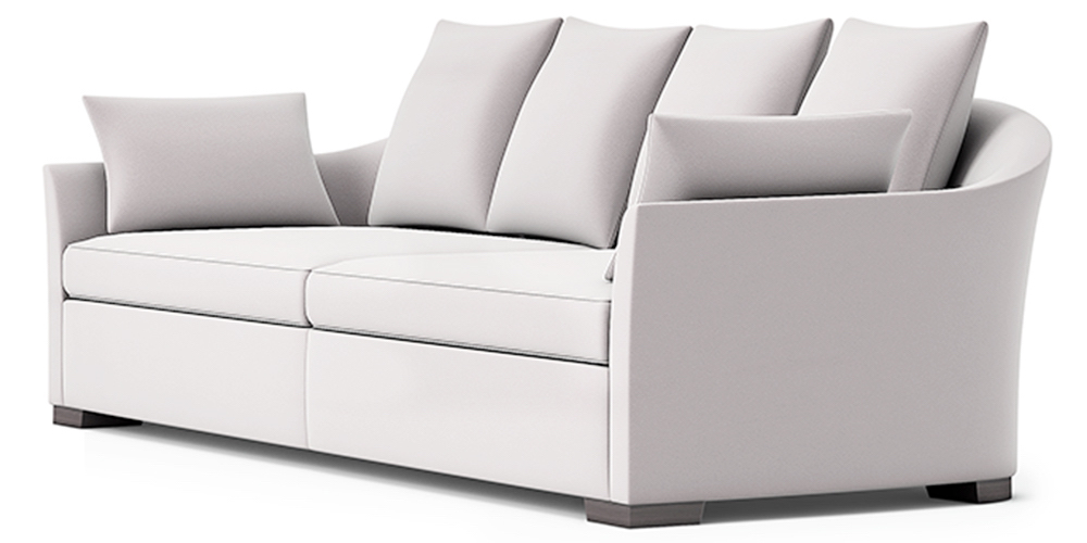 OUTDOOR SOFA WITH CURVED BACK
