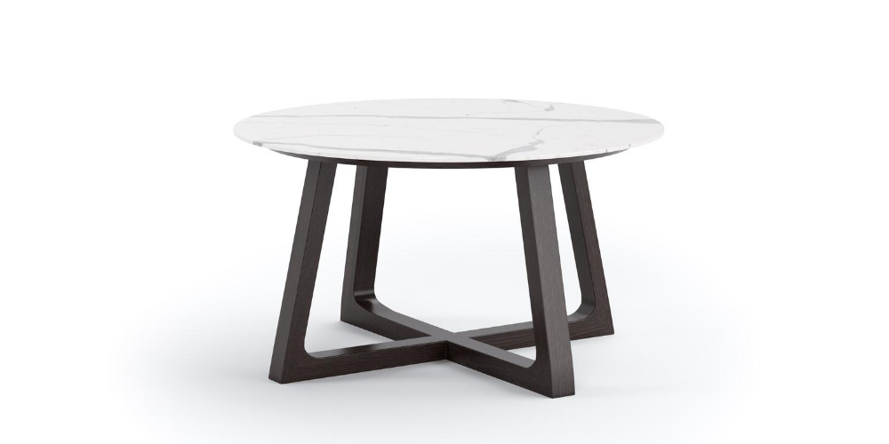 Vela round outdoor porcelain table