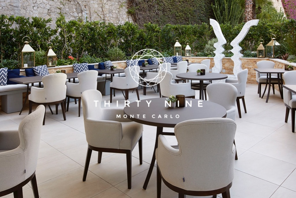 outdoor chairs and tables at monte carlo monaco