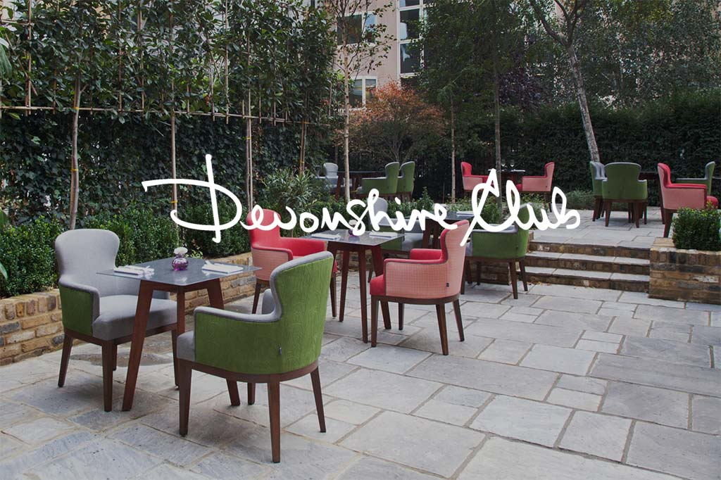 exclusive outdoor chairs and tables at devonshire club london
