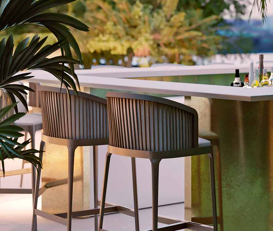 luxury outdoor bar chairs